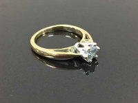 A 9ct gold diamond solitaire ring, approximately 0.5ct, size I/J.