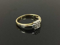 A 9ct gold diamond square shaped cluster ring, 2.3g, size M/N.