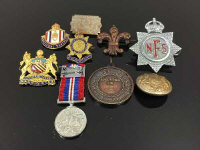 A collection of badges and medals - National Savings, Royal Life Saving Society etc. (9)