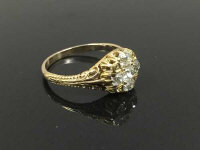 A nineteenth century four stone old cut diamond ring, size  N/O.