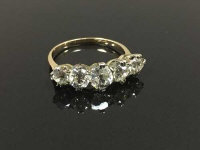 An antique five stone diamond ring, approximately 2ct, size M/N.