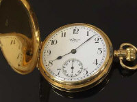 An 18ct gold Waltham pocket watch, 5 cm x5 cm, 103.9g, numbered 20969128.