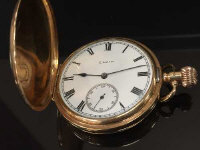 A 9ct gold Elgin pocket watch numbered 23413603.