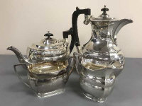 A silver four piece tea service, Travis Wilson and Co, Sheffield 1970, 1617g. (4)
