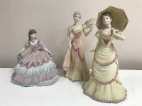 "Three Coalport figurines ""The Age of Elegance Royal Gala"", "" Chiswick Walk"" and ""Evening at the Opera"" (3)"