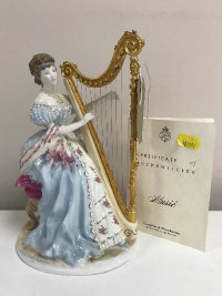 A Royal Worcester figure - Music from the graceful arts collection, limited edition, height 22 cm