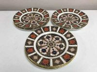 A set of eight Royal Crown Derby side plates, diameter 21.5 cm, Imari pattern 1128.  (8)