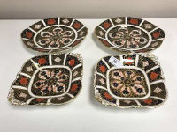 Two pairs of  Royal Crown Derby side plates, Imari pattern 1128.  (4)
