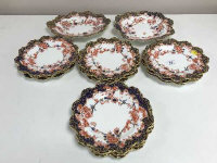 Fourteen Royal Crown Derby cabinet plates, pattern 4964. (14)