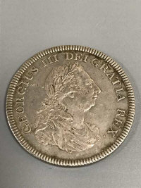 A George III silver five-shilling dollar 1804