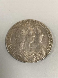 A William and Mary silver half Crown 1689