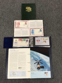 The Winston Churchill Centenary Collection of First Day Covers, together with America's Conquest of Space, Christmas Stamps of Great Britain 1966-78 and Queen Elizabeth II Silver Jubilee First Day Cover album by Pobjoy Mint (4)