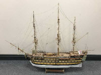 A scratch-built model - HMS Victory, scale 1:78, on stand, height 100 cm.