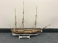 A scratch-built model - HMS Great Britain, on stand, height 74 cm.