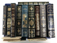 Ten Franklin library volumes - The adventures of Huckleberry Finn etc. (10)