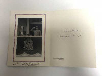 Of Royal interest - original signed Christmas card by Edward and Wallace Windsor.