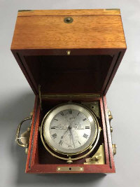 A fine quality boxed chronometer by John Fletcher, maker to the Admiralty, 48 Lombard street, London.