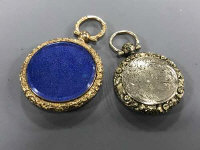 Two Victorian gold lockets. (2)