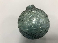 A very rare 19th century Bogardus glass target ball, approximately 6.5cm diameter.