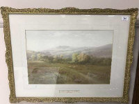 Charles E. Brittan (1870 - 1949) : The Walkham Valley and Great Mis Tor, watercolour, signed, 34 cm x 52 cm, framed.