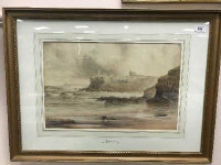 George Pelham Dixon (1859 - 1898) : Tynemouth, watercolour, signed, dated 1897, 32 cm x 48 cm, framed.
