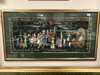 Indian School : A Royal Pageant, watercolour, 102 cm x 44 cm, framed.