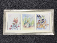 Late Twentieth Century School : Flower Fairy with Snowdrops, an original illustrator's study in watercolour, 31 cm x 24 cm, together with two similar by the same illustrator both also depicting Flower Fairy subjects, framed overall as one.
