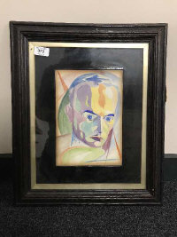 Anton Sulek : Head and Shoulder Study of a Gentleman, watercolour, signed, 25 cm x 18 cm, framed.