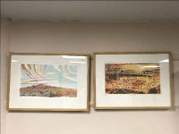 Ray Arnold : Idea Ireal, limited edition colour print, 195/300, together with another limited edition print depicting an Australian landscape, both parts framed. (2)