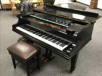 A C. Bechstein 6'8'' grand piano, Model V, serial number 22920, together with stool.