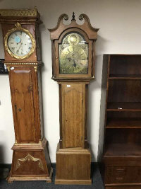 A 19th century oak long cased clock with brass dial, signed William King, London, height 201 cm
