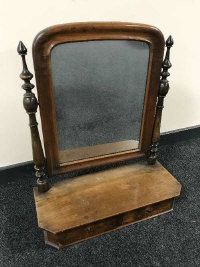 A 19th century mahogany dressing table mirror, width 58 cm