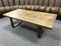 France & Son - a mid 20th century rosewood coffee table, with plate glass top, circa 1960-1969, labelled beneath,  dimensions 130 cm x 65 cm.