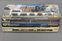Three Hornby Railways Train sets - GWR mixed traffic, High Speed Electric Train and Permanent Way, all parts boxed. (3)