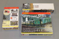 A Hornby Queen of Scots Electric train set, together with the Mallard (two boxes). (3)