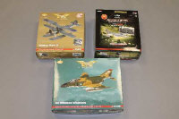 Three Corgi die cast models - Aviation archive and Predators of the Skies, all parts boxed. (3)