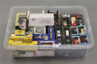 A box containing a large quantity of model vehicles - Oxford Classics etc. (Q)