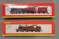 A Hornby OO gauge British Rail 4-6-2 Princess Coronation class locomotive engine, together with an LMS Fowler 2-6-4 class locomotive, both parts boxed. (2)