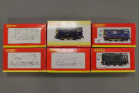 Six Hornby OO gauge locomotive engines to include Diesel electric Class 09 model Zone Exlusive Mainline class 09 etc, all parts boxed. (6)