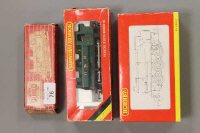A Hornby Dublo locomotive British Rail 0-6-6 together with a Hornby GWR Panier tank and a Hornby J94 locomotive, all parts boxed. (3)
