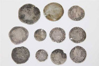 A group of ten Elizabeth I and later silver coins, together with a Medieval silver coin. (11)