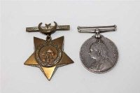 A Khedive's Star and a Victorian Volunteer Long Service Medal, unnamed. (2)