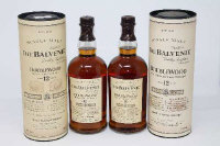 The Balvenie - Single Malt, Double Wood (matured in two casks), aged 12 years, each 1l, in presentation tube. (2)