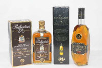 Ballantine's - Very Old Scotch Whisky, 1l, together with J & W Hardie Ltd - The Antiquary, finest 12 years old Scotch, 1l, all parts boxed. (2)