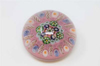 A 19th century French millefiori glass paperweight, diameter 7cm
