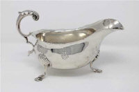 A George II style silver sauceboat, Holland, Aldwinkle & Slater, London 1909, height 11cm, 264g.