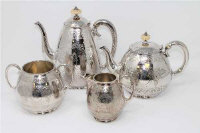 A good quality silver plated four piece tea service by Elkington & Co, the water jug 23cm high. (4)