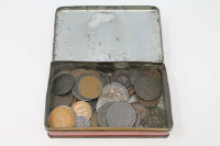 A collection of copper coins - mostly 18th and 19th century, 1876 Hong Kong Cent, tokens etc. (Q)