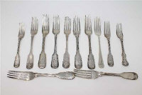 A group of twelve Victorian silver spoons, various dates, patterns and makers, 941g gross (12).