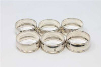 A good matching set of six silver napkin rings, maker H H, Sheffield 1884